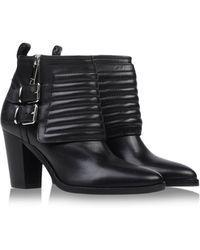 Burberry Black Ankle Boots - Lyst