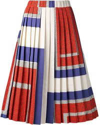 Suno Pleated Aline Skirt - Lyst