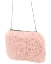 House of Holland - Sheep Fur Chain Clutch - Lyst