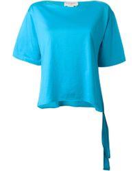Yves Saint Laurent Vintage Tie Detail T-Shirt - Lyst
