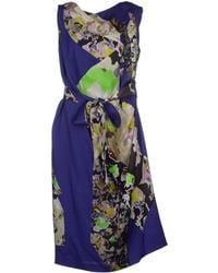 Dries Van Noten Knee-Length Dress purple - Lyst