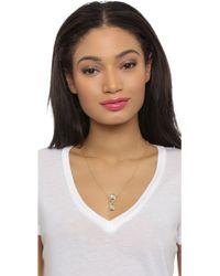 Pamela Love - Infinite Pendant Necklace - Moonstone/antique Gold - Lyst