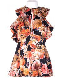 Givenchy Sleeveless Silk Satin Shirt - Lyst