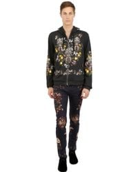 Dolce & Gabbana Hooded Printed Cotton Sweatshirt - Lyst