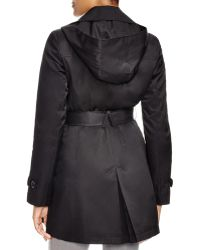 DKNY - Megan Double Breasted Trench Coat With Belt - Lyst