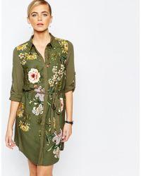 Oasis | Opium Print Shirt Dress | Lyst