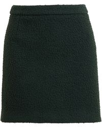 J.W. Anderson Textured Wool Mini Skirt - Lyst