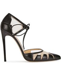 Bionda Castana - Lana Black Pointed Leather Court Shoes - Lyst