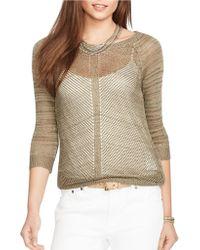Lauren by Ralph Lauren Linen-Blend Sweater - Lyst