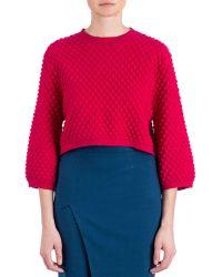 Zac Zac Posen - Ivette Textured-knit Sweater - Lyst
