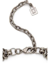 DANNIJO - Langley Necklace - Silver/Crystal - Lyst