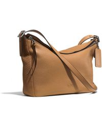 Coach Bleecker Eastwest Sullivan Hobo in Pebbled Leather - Lyst