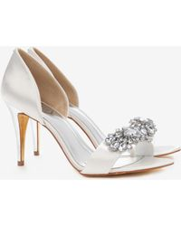 Ted Baker Embellished Cut Out Court Shoes - Lyst