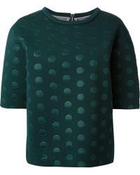 Stella McCartney Embossed Polka Dot Sweater - Lyst