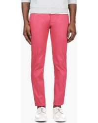 DSquared² Coral Pink Slim Trousers - Lyst