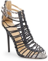 L.a.m.b. Payton Strappy Leather Sandals - Lyst