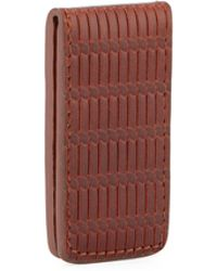 Will Leather Goods - Milton Woven Leather Money Clip - Lyst