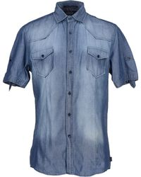 Izac - Denim Shirt - Lyst