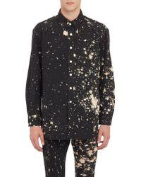Raf Simons Splatter Work Shirt - Lyst