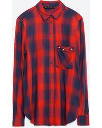 Zara | Check Shirt | Lyst