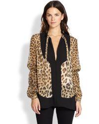 Just Cavalli Leopard-print Blouse - Lyst