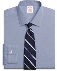 Brooks Brothers Non-Iron Traditional Fit Houndstooth Dress Shirt - Lyst