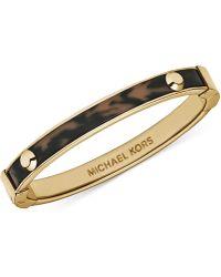 Michael Kors Gold-Tone Tortoise Hinge Bangle Bracelet - Lyst