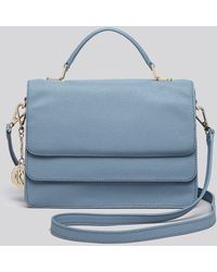 Coach Legacy Perforated Leather Romy Top Handle In Blue