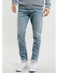 Topman Light Wash Stretch Slim Jeans - Lyst