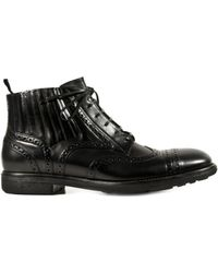 Dolce & Gabbana Lace-Up Bootie - Lyst