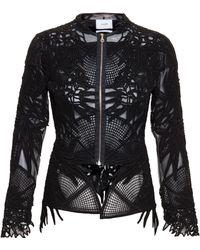 Erdem Cassidy Guipure Lace Jacket black - Lyst
