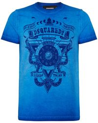 DSquared² Star Signs T-Shirt blue - Lyst
