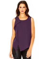 RACHEL Rachel Roy Sleeveless Ruffled Top - Lyst