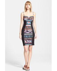 Jean Paul Gaultier Stripe Bustier Body-Con Dress - Lyst