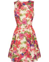 Oasis Rose Bud Textured Dress multicolor - Lyst