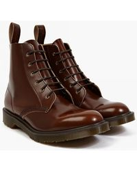 Dr. Martens | Tan Boanil Brush Leather Arthur Boots | Lyst