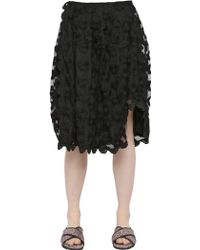 Simone Rocha Floral Embroidered Tulle Skirt - Lyst
