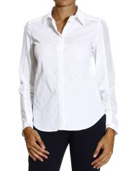 Armani Jeans Shirt Popeline with Backstich - Lyst
