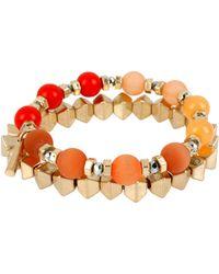 Kenneth Cole Citrus Slice Mixed Bead Bracelet Set 2 - Lyst