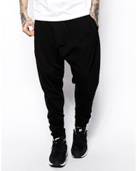 Asos Drop Crotch Sweatpants with Quilting - Lyst