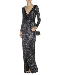 Matthew Williamson Starlight Print Jersey Wrap Gown - Lyst