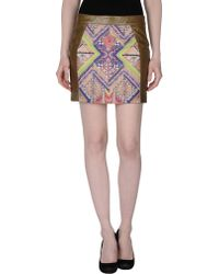 Matthew Williamson Mini Skirt green - Lyst