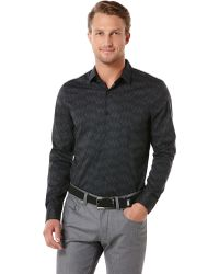 Perry Ellis Long Sleeve Cutaway Button Down - Lyst