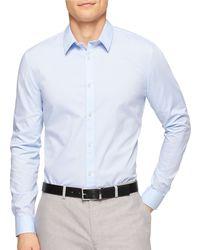 Calvin Klein Non-Iron Sportshirt blue - Lyst