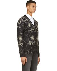 Alexander McQueen Black Paisley and Floral Sweater - Lyst