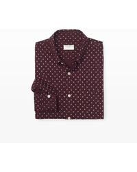 Club Monaco Slim Fit Mini Floral Shirt - Lyst