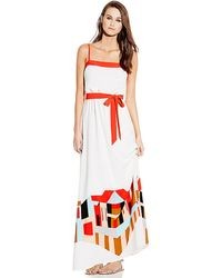 Vince Camuto Strapless Maxi with Embroidery - Lyst
