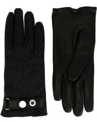 DIESEL - Wool And Leather Gloves - Lyst