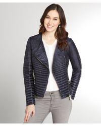 Moncler Navy Quilted Down Filled Prisca Jacket - Lyst