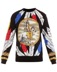 Versace Native American-print Sweatshirt - Lyst